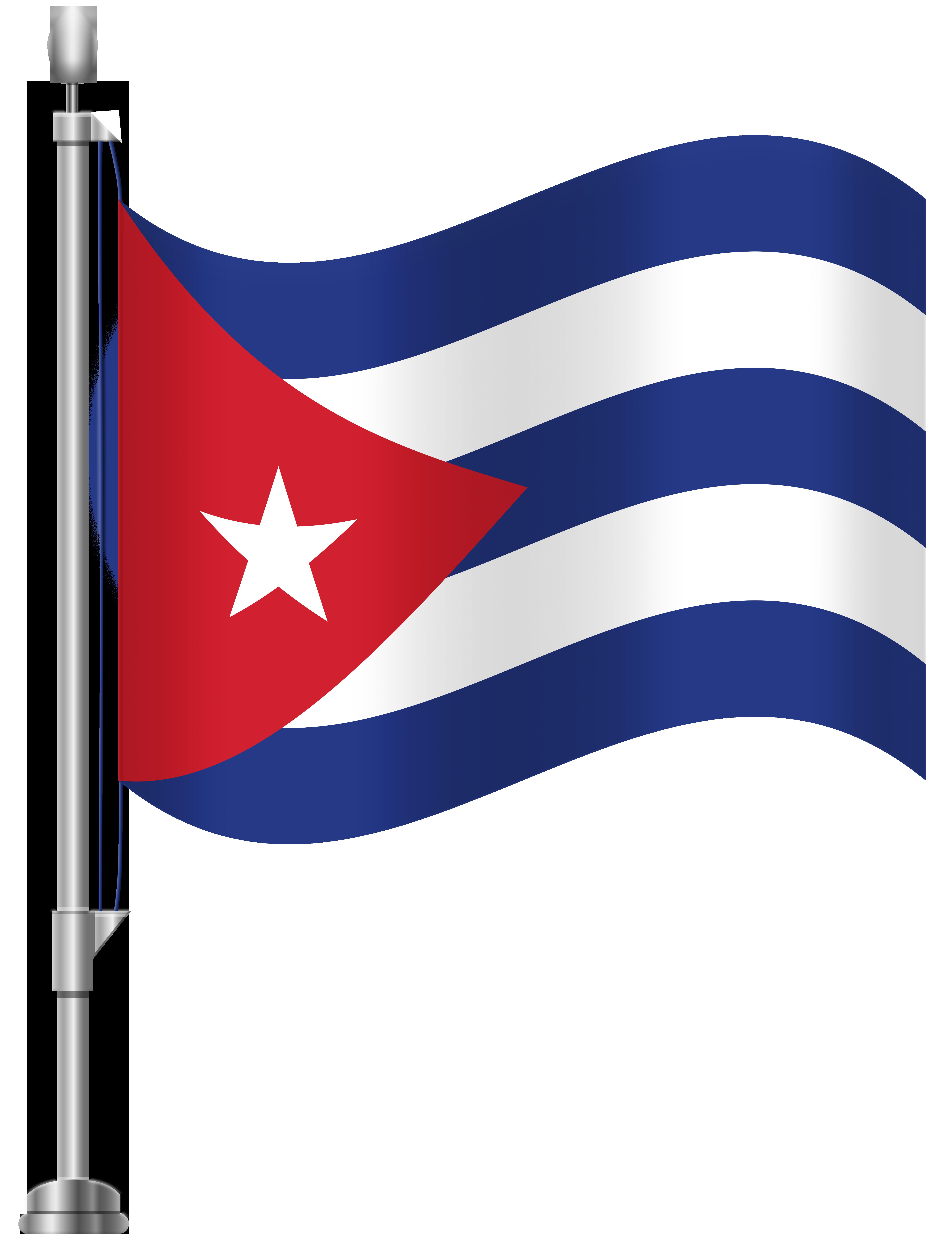Cuba Flag PNG Clip Art.