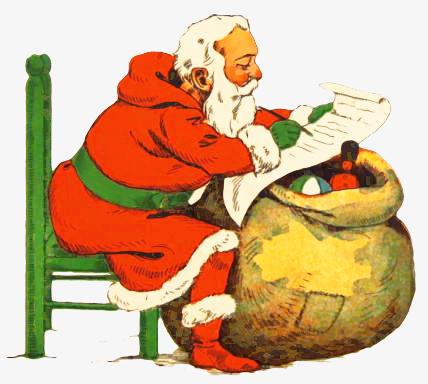 Postcard Santas Clip Art Download.