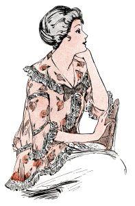 1914 ladies clothing, antique womens clothes, vintage fashion.