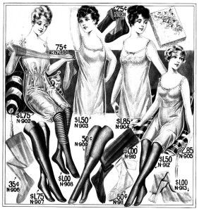 1915 Undergarments from a Catalogue, Women.