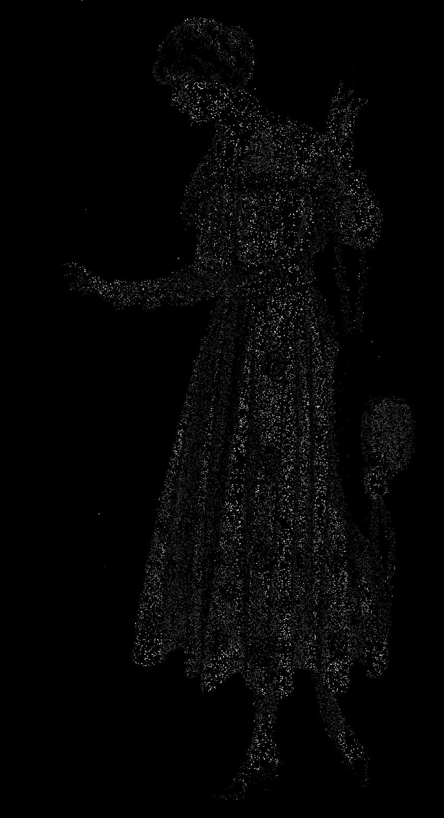 Digital Stamp Design: Digital Dress Fashion Images of Women's Long.