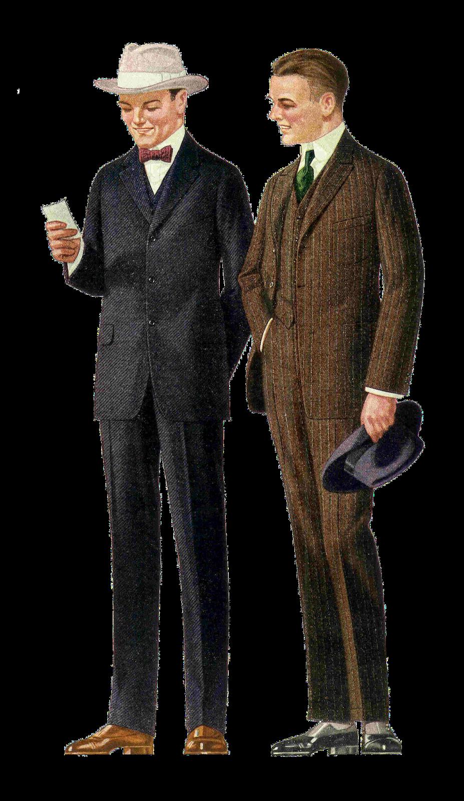 Free Fashion Clip Art 1915 Men S Suits 2 Vintage Fashion Graphics.