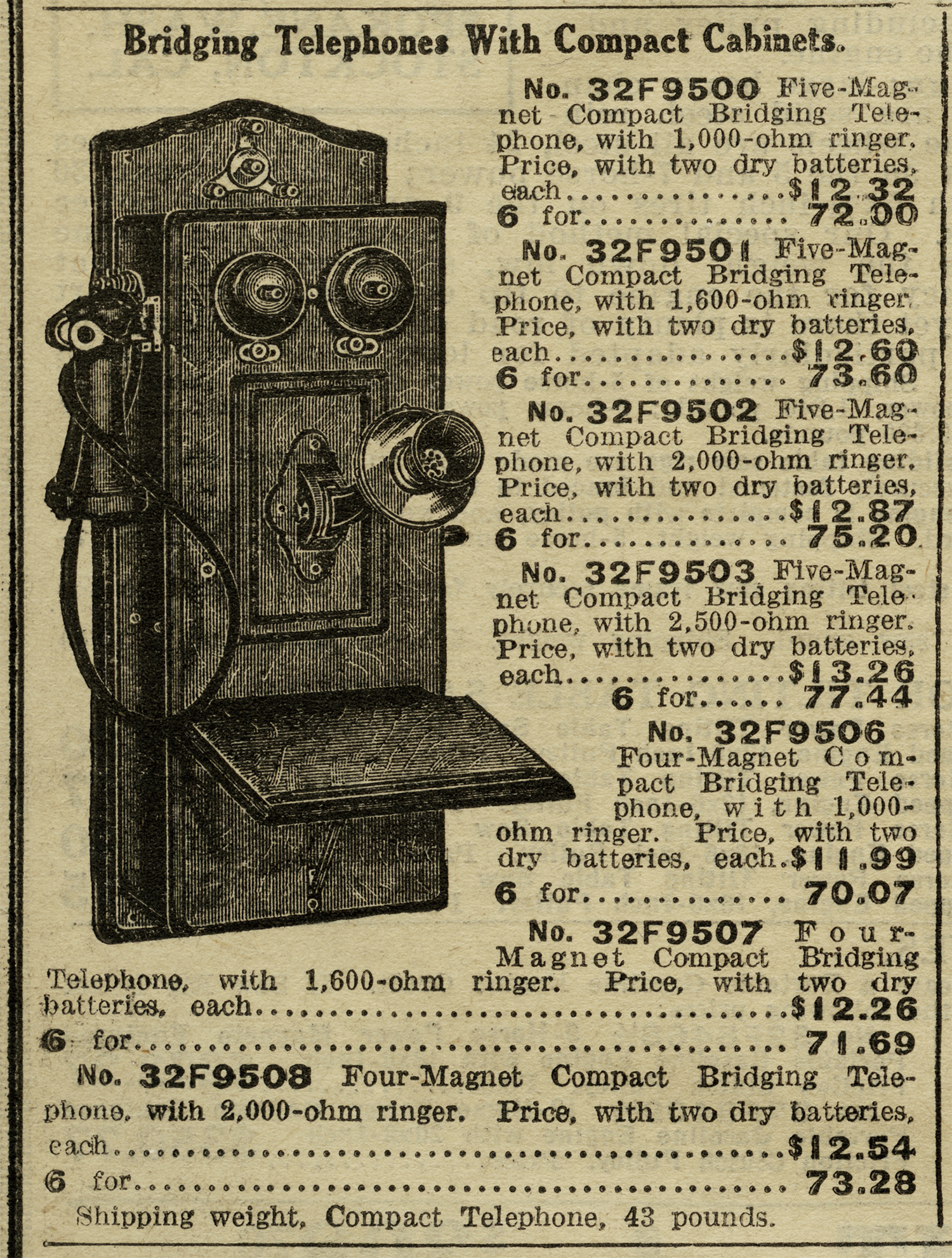 This Antique Telephone Listing Is From The 1916 Sears Roebuck And.