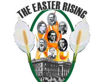1916 easter rising flag clipart.