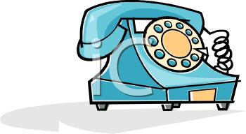 Blue Telephone Clip Art.
