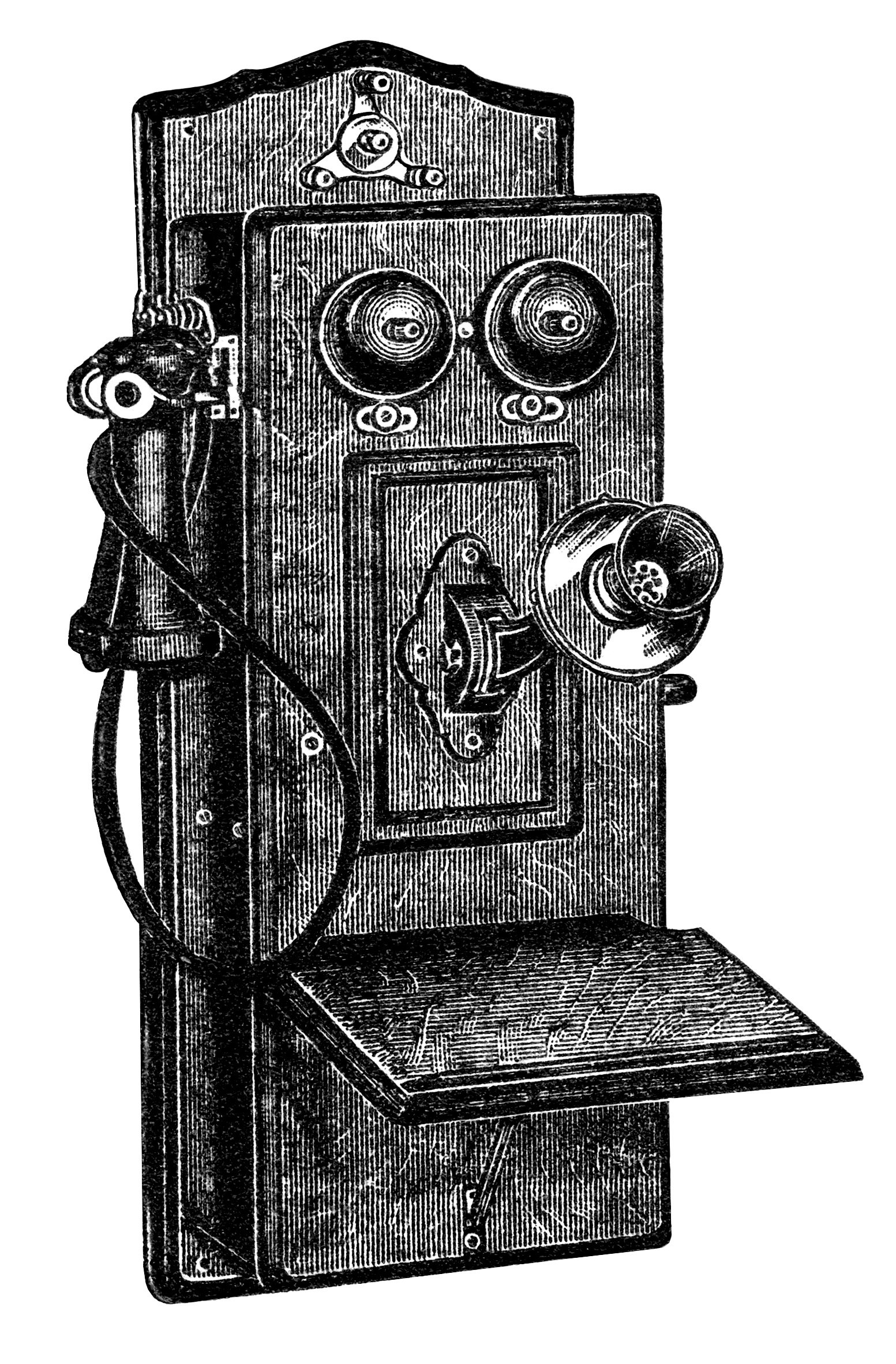 Antique Phone Clipart.