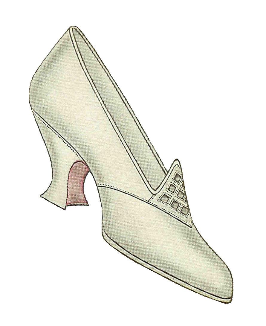 Antique Images: Free Shoe Clip Art: Image of 1917 Women's Shoe Fashion.