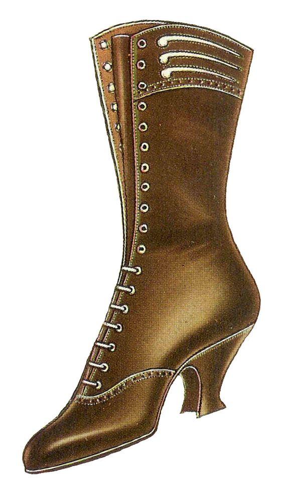 Antique Images: Free Shoe Clip Art: Vintage 1917 Women's Shoe.