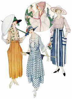 Antique Images: Vintage Fashion Graphic: Women's Vintage Fashion.