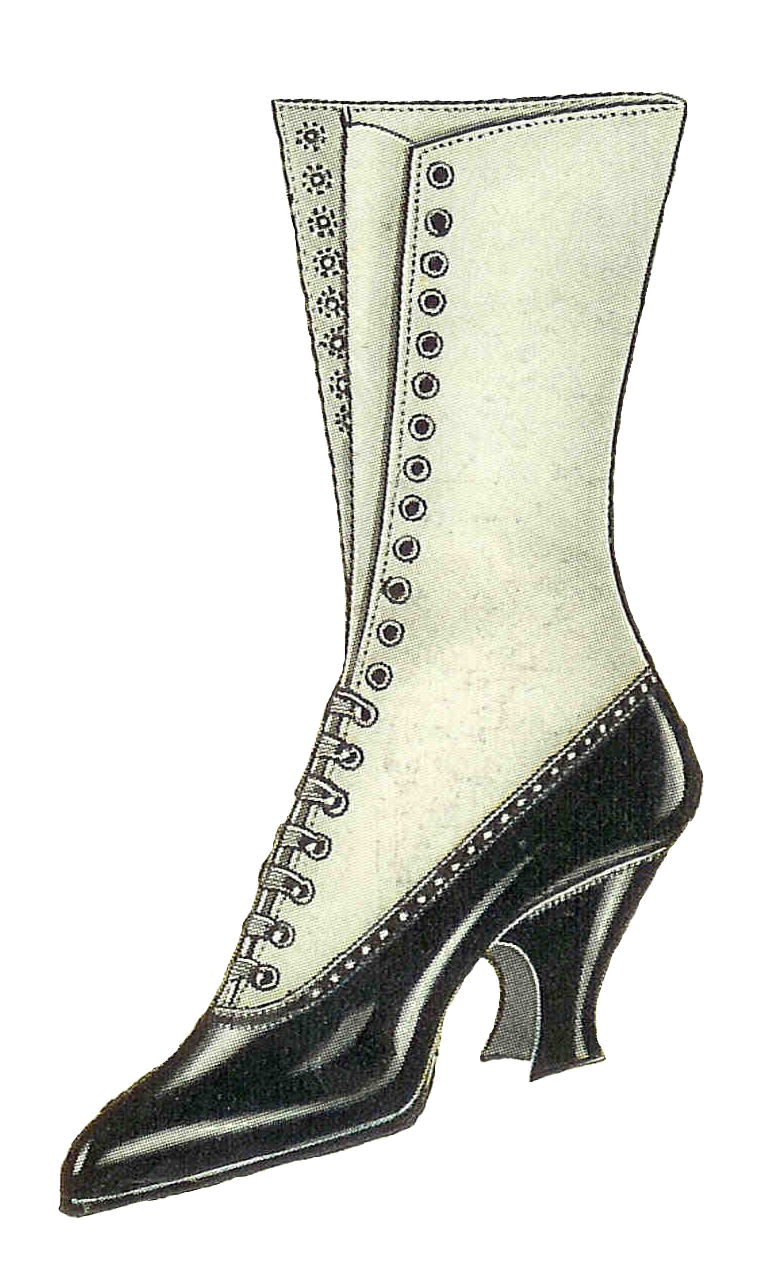 Antique Images: Free Shoe Clip Art: Vintage Graphic of Women's.