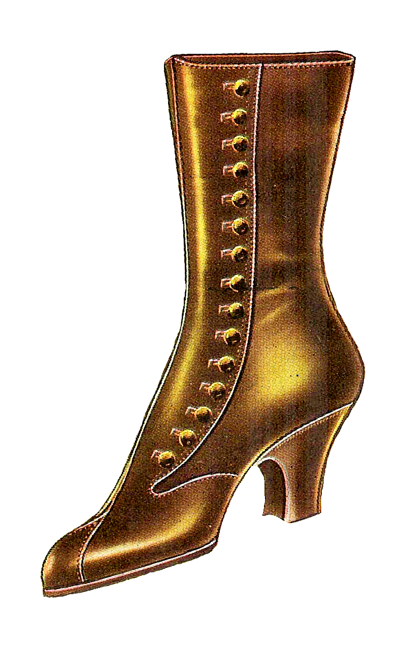 Antique Images: Free Fashion Clip Art: Vintage 1917 Women's Boot.