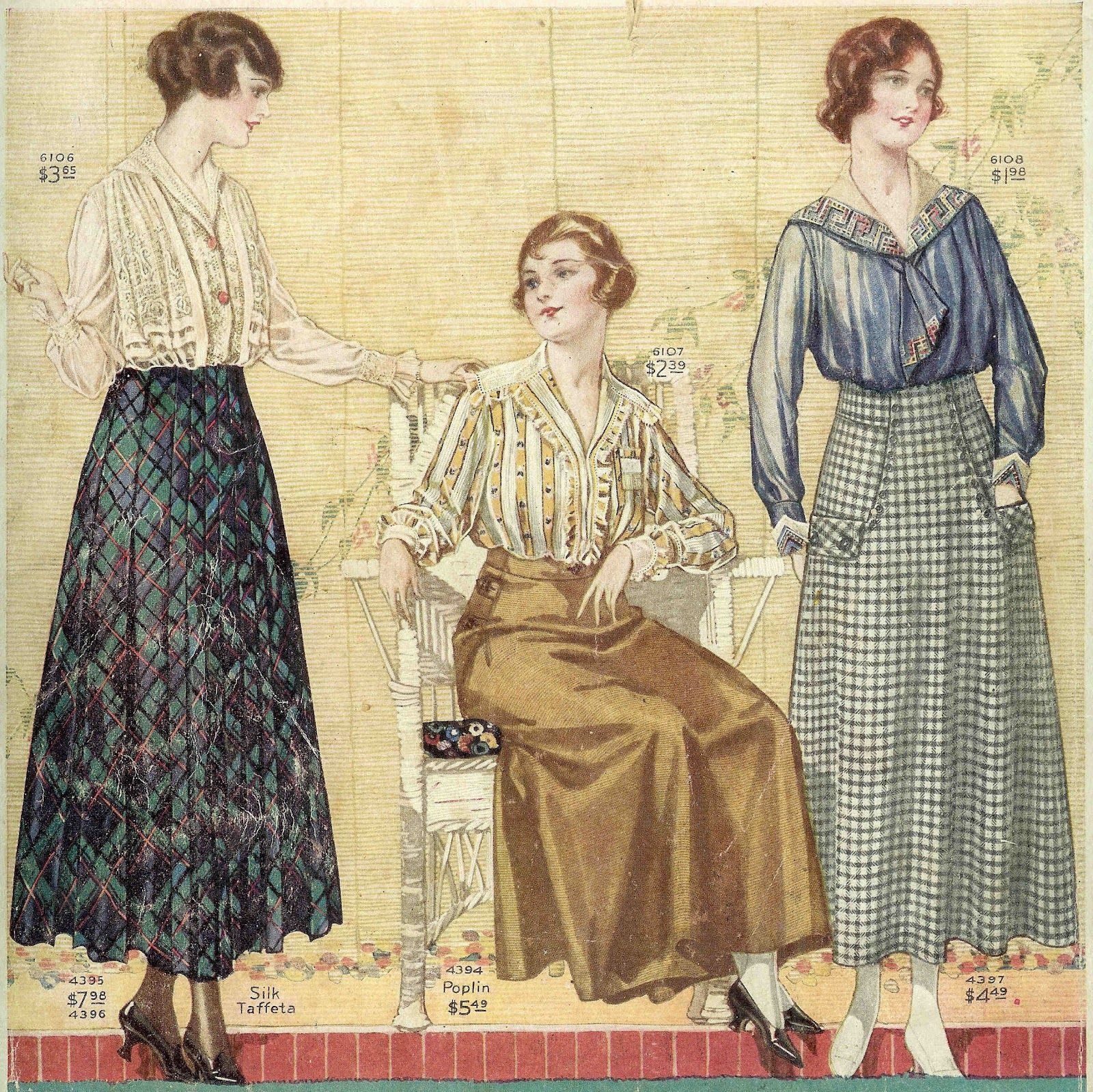 Antique Images: Vintage Fashion Graphic: Women's Vintage Fashion.