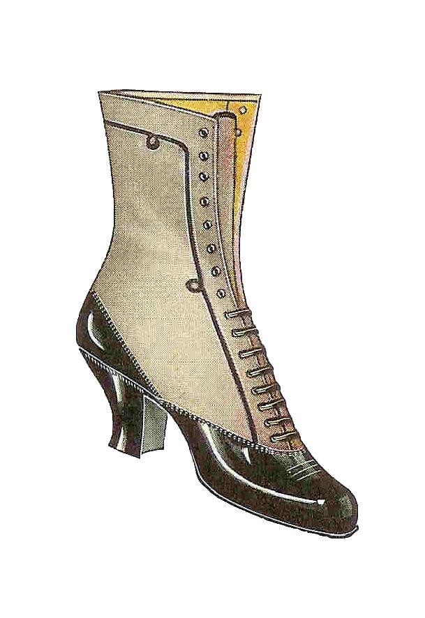 Vintage Shoe Clipart.