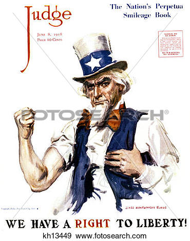 Stock Photograph of Uncle Sam We Have A Right To Liberty Patriotic.