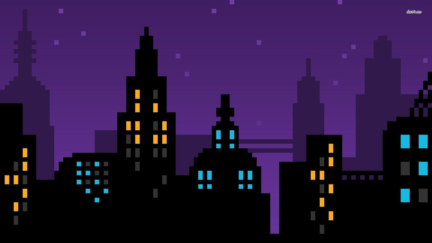 Skyline Vector Night 1919 1920x1080 Clipart.