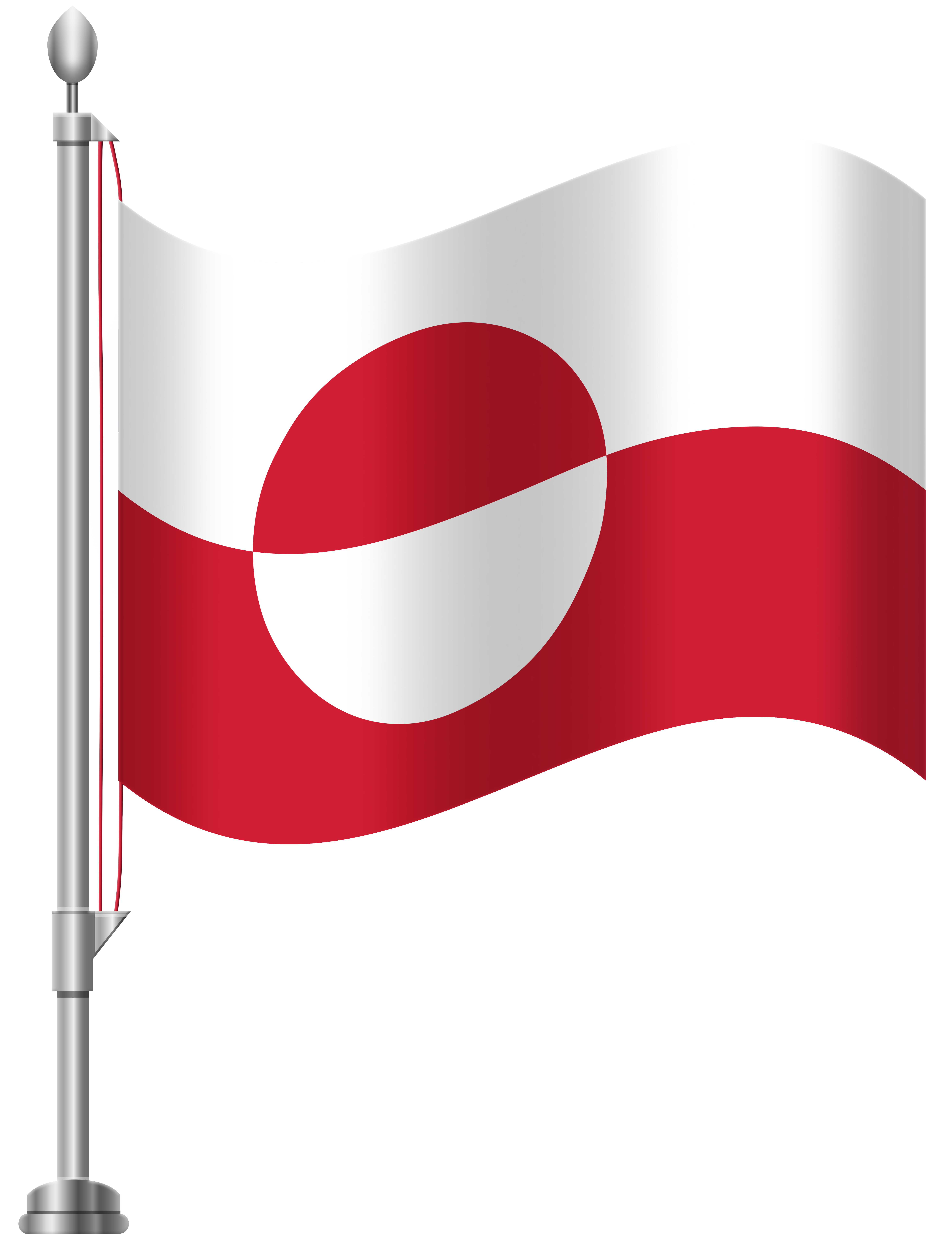 Greenland Flag PNG Clip Art.