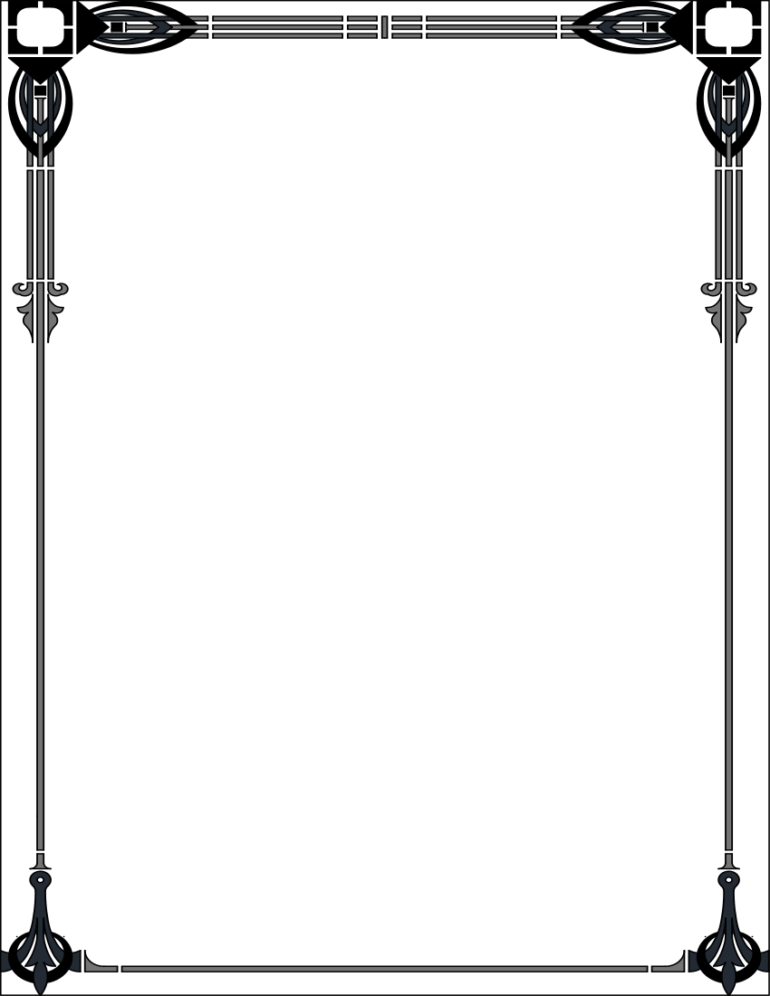 Art Deco Page Border Png & Free Art Deco Page Border.png.