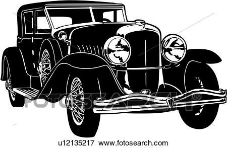 , 1920, 1929, 1930, automobile, car, classic, duesenberg, j, model, Clip Art.
