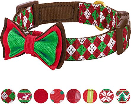 Blueberry Pet 20+ Patterns Christmas Festival Dog Collar Collection.