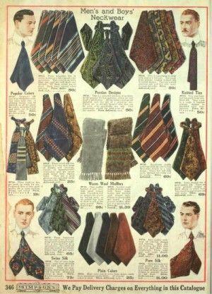 Edwardian Men\'s Ties, Bow Ties, Cravat, Neck Scarf in 2019.