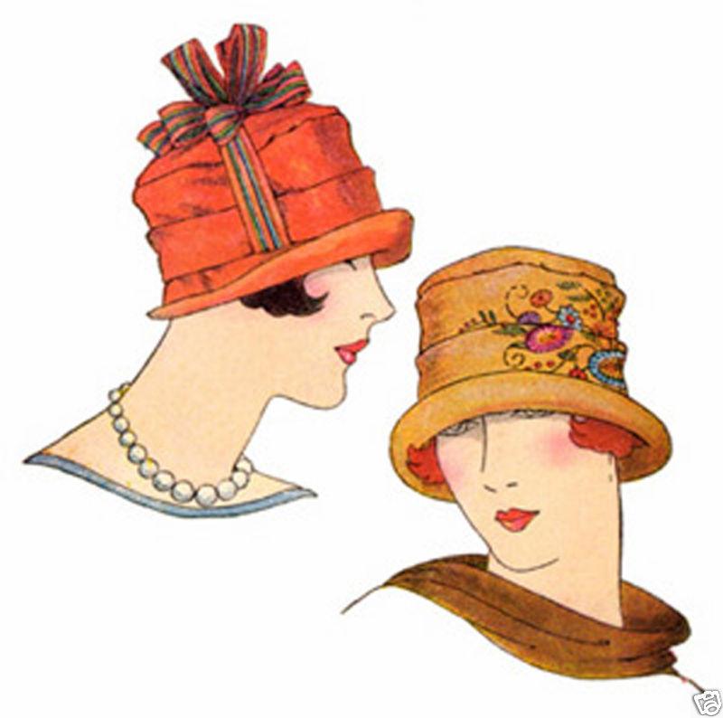 Vintage 1920 Fashion Clipart.