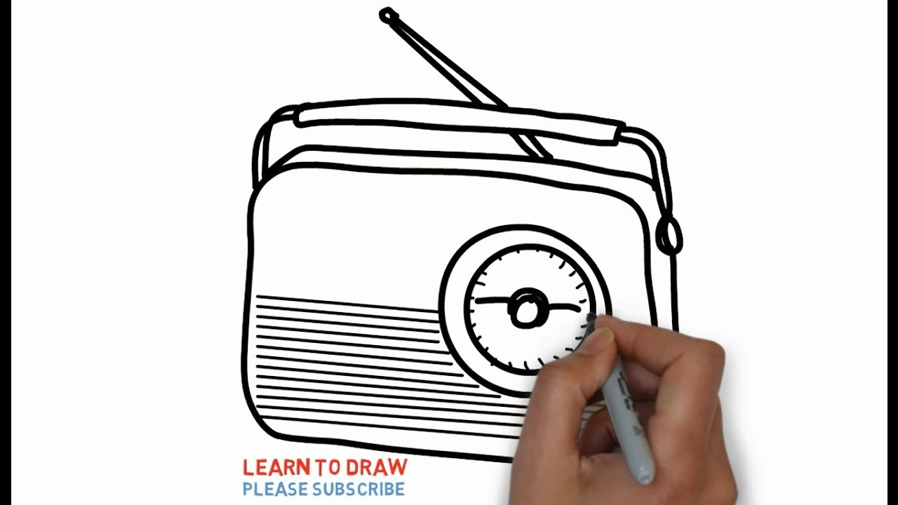 Easy Step For Kids How To Draw The Old Radio.