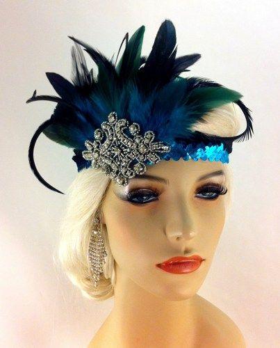 Flapper Headband,1920\'s Headpiece, Art Deco, Great Gatsby in.