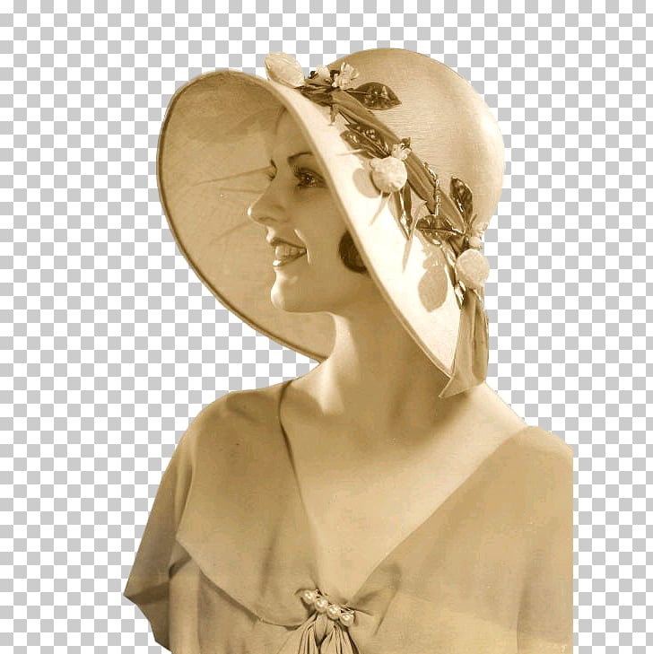 Ziegfeld girl 1920s Cloche hat Photography, Hat PNG clipart.
