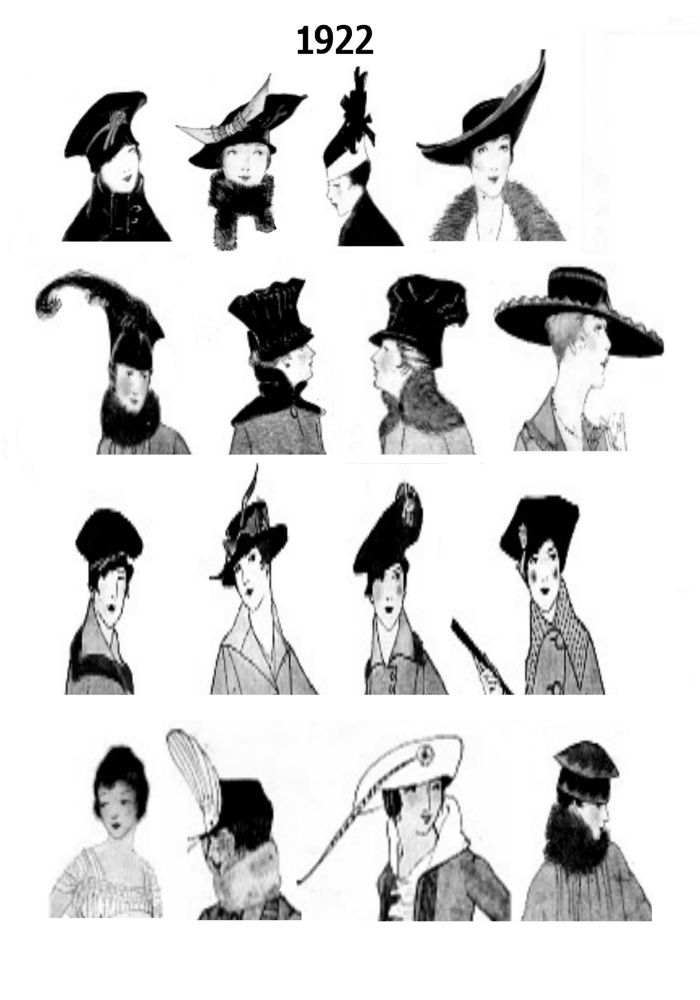 1920s Pictures Hats 20s Hair Style Fashions.