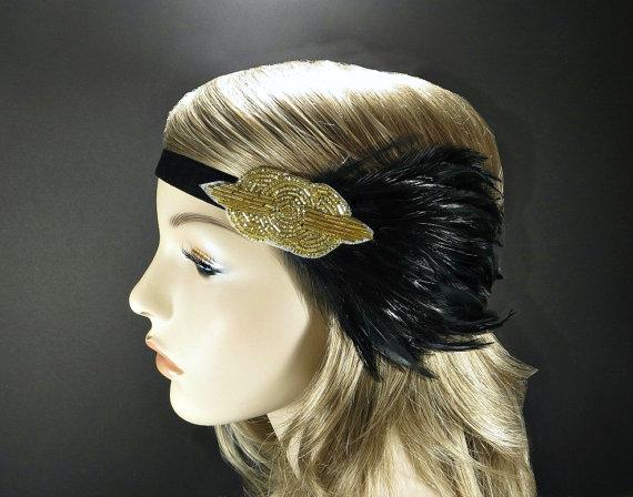 1920s Headpiece Clip Art.