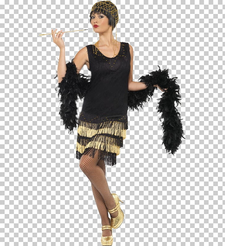 1920s Costume party Flapper Dress, dress PNG clipart.