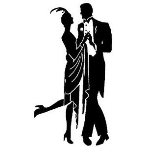 1920\'s silhouettes.