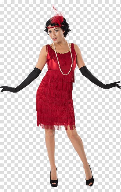 1920s Flapper Costume party Dress, dress transparent.