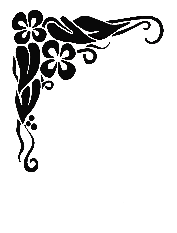 colour decorative scrolls clip art free.