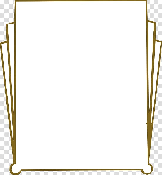 Art Deco transparent background PNG cliparts free download.