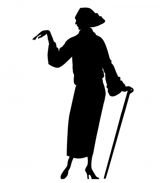 Woman Silhouette Clipart 1920s Free Stock Photo.