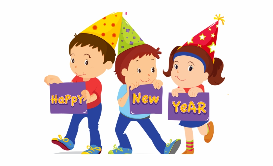 Happy New Year Clipart Child.