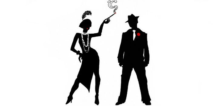 1920s Silhouette Couple at GetDrawings.com.