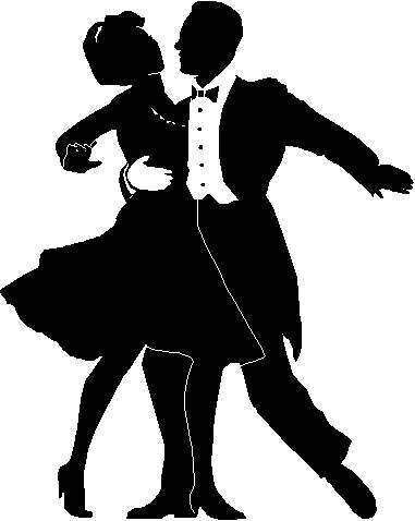 silhouette Dancing Couple minuet.