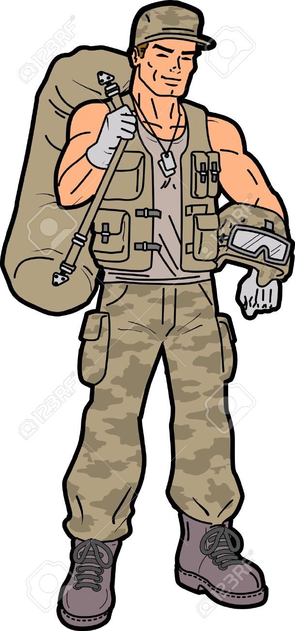 1920s military man clipart clipground