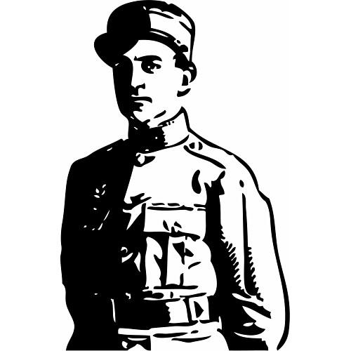 Military Man Man Clipart.