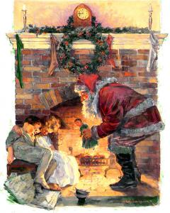 Santa Illustrated Clip Art Download.