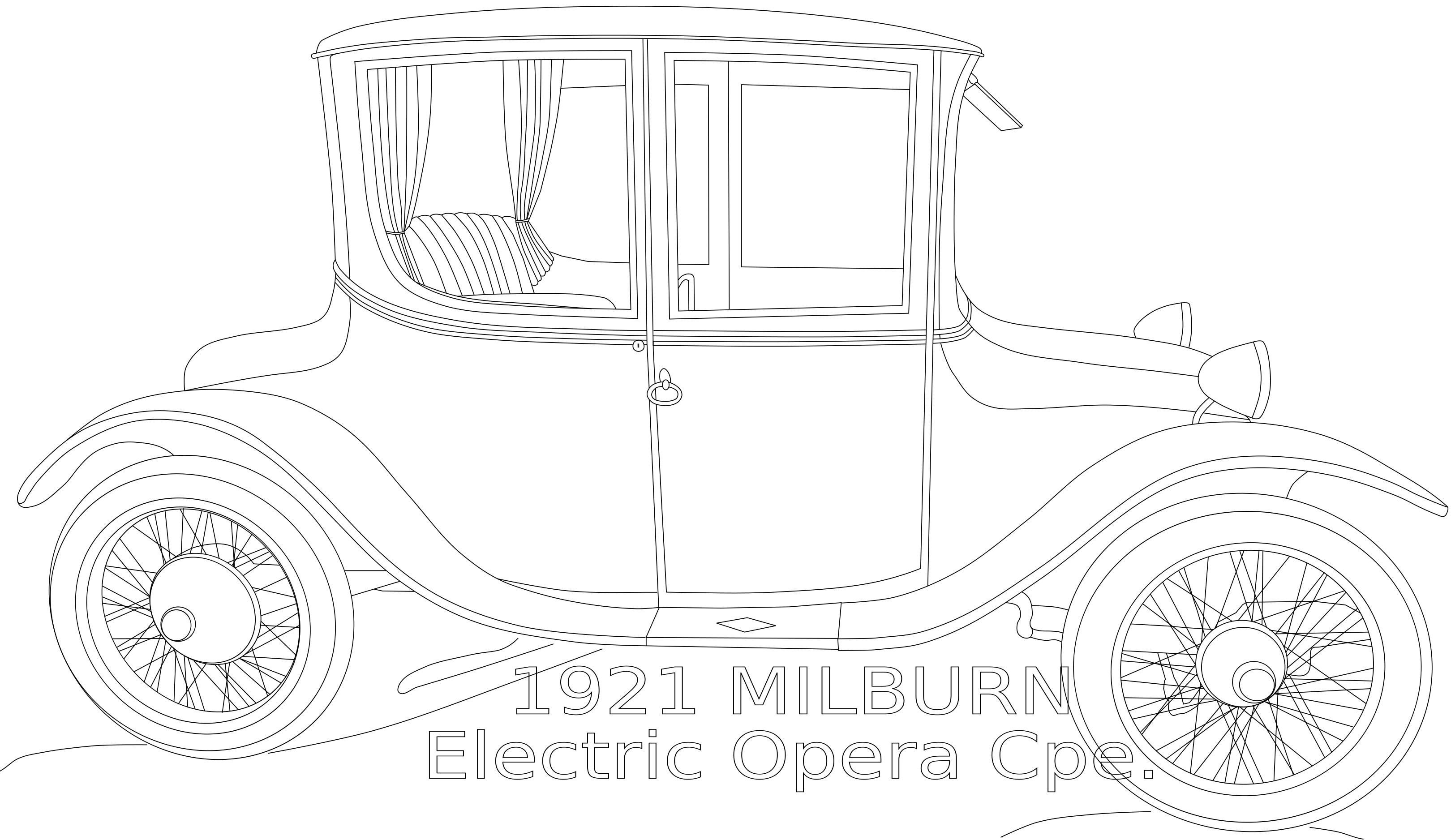 1921 Milburn Electric Car Clipart.