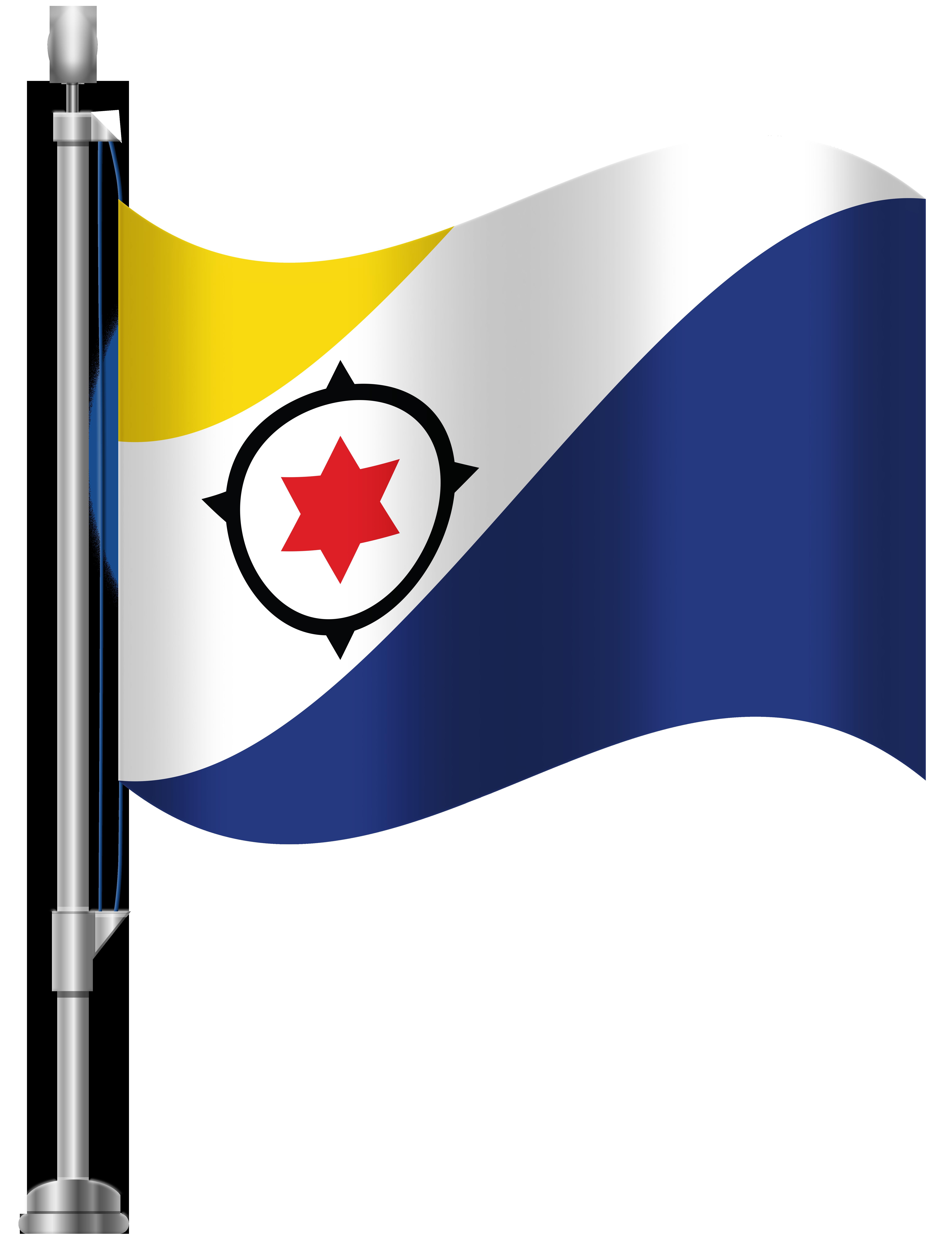 Bonaire Flag PNG Clip Art.