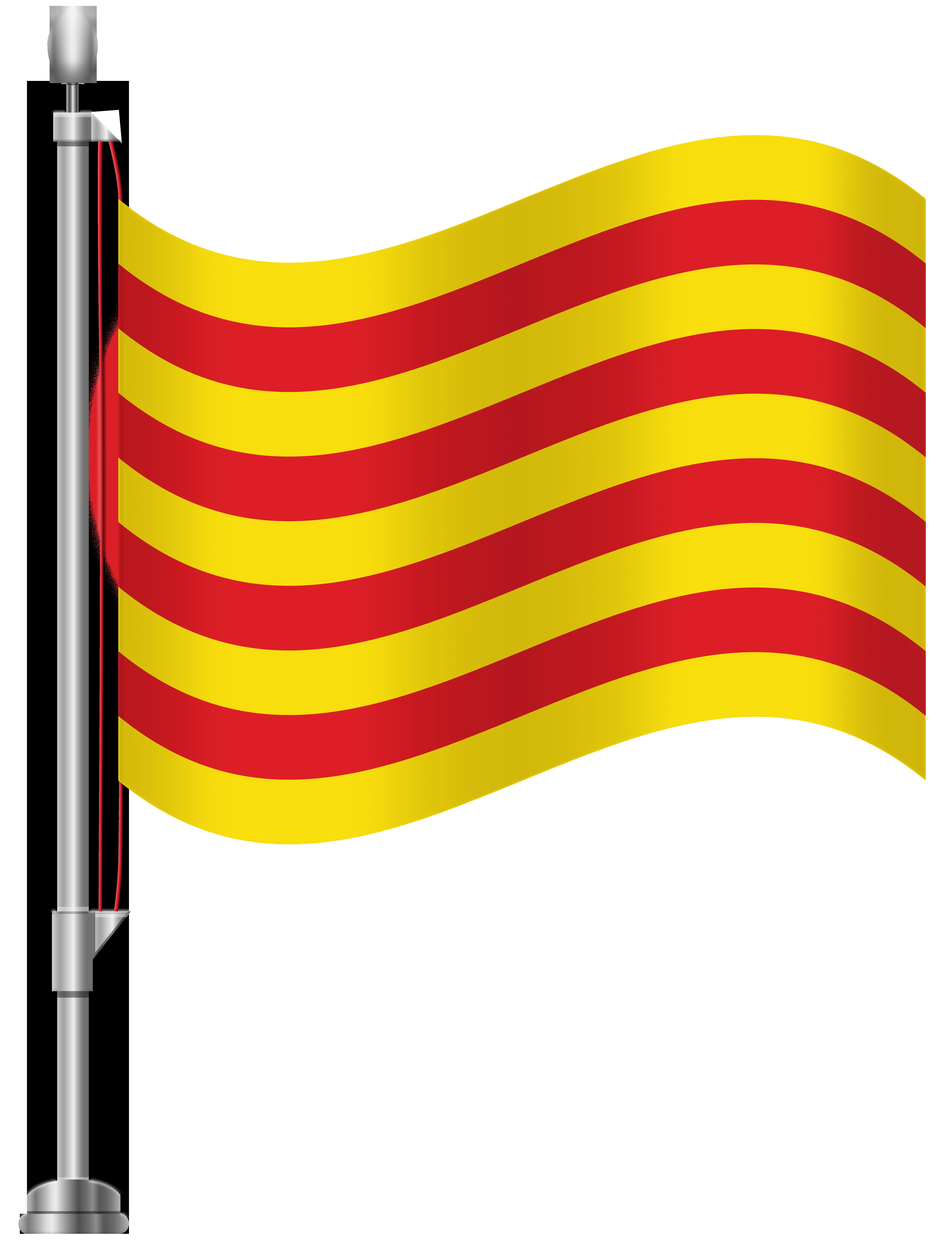 Catalonia Flag PNG Clip Art.
