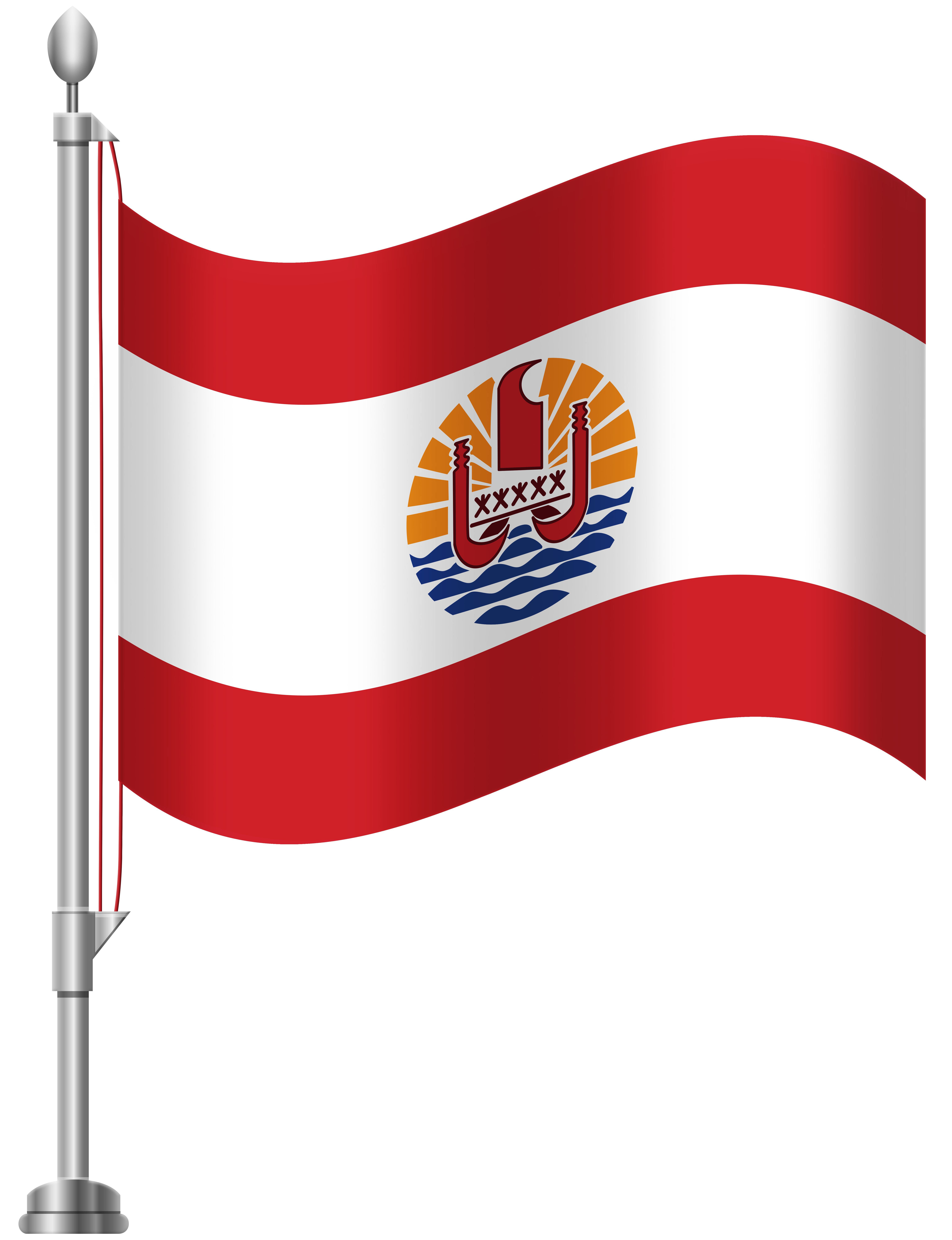 French Polynesia Flag PNG Clip Art.