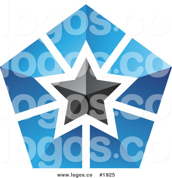 Royalty Free Blue and Black Star Logo by cidepix.