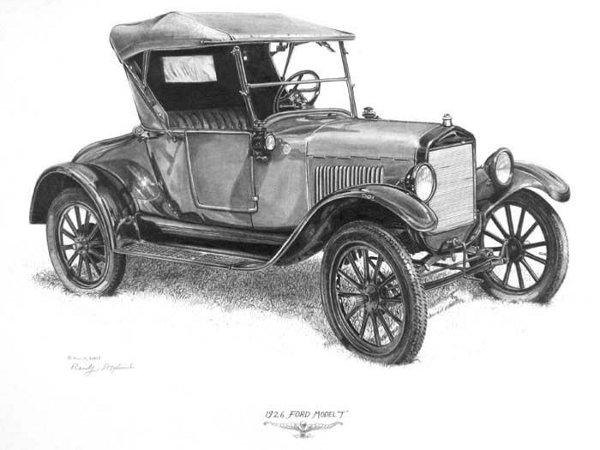 1926 Model T Clipart.