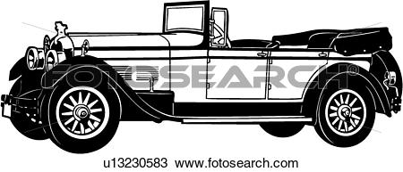 Clipart of , 1920, 1926, 1930, 8aa, automobile, car, classic.