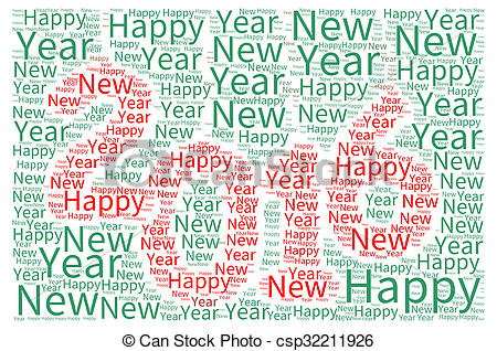 Clip Art of Happy New Year 2016.